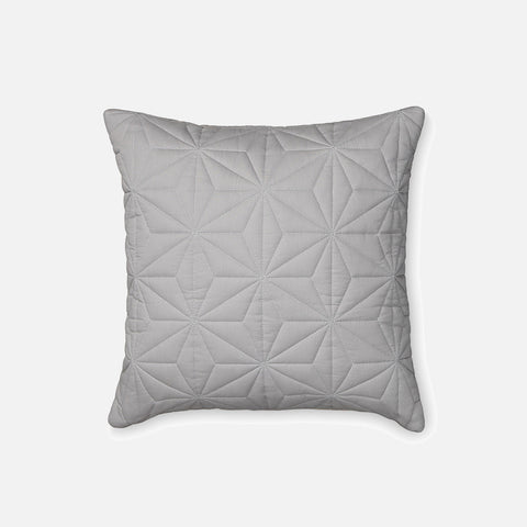 Organic Quilted Cushion - Grey