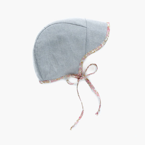 Cotton/Hemp Bonnet Brimmed- Dove - 0m-4y