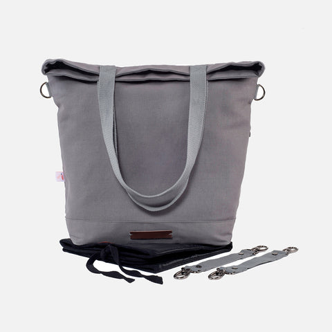 Global Traveller Cotton Changing bag - Grey