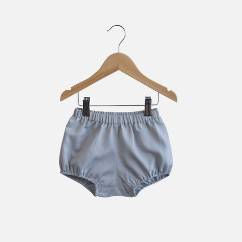Cotton/Linen Poppy Bloomers - Grey - 12m-4y