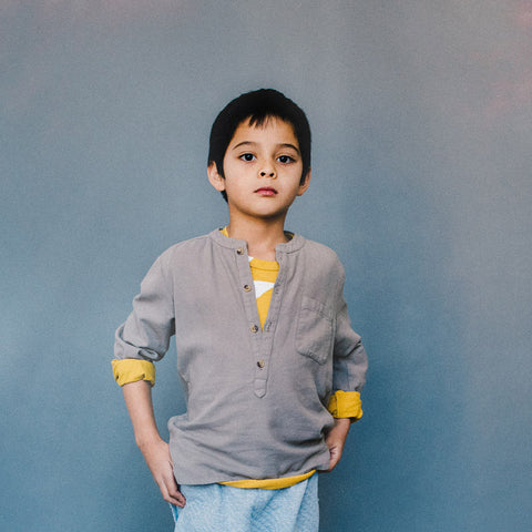 Juno Flannel Shirt - Moon - 2-8y