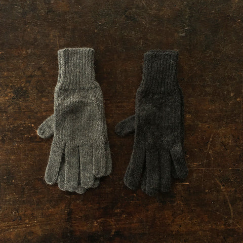 Adult Alpaca Gloves - Anthracite and Slate - One Size