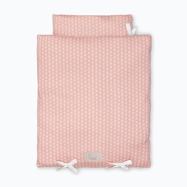 Organic doll/teddy bedding - Sashiko Blush