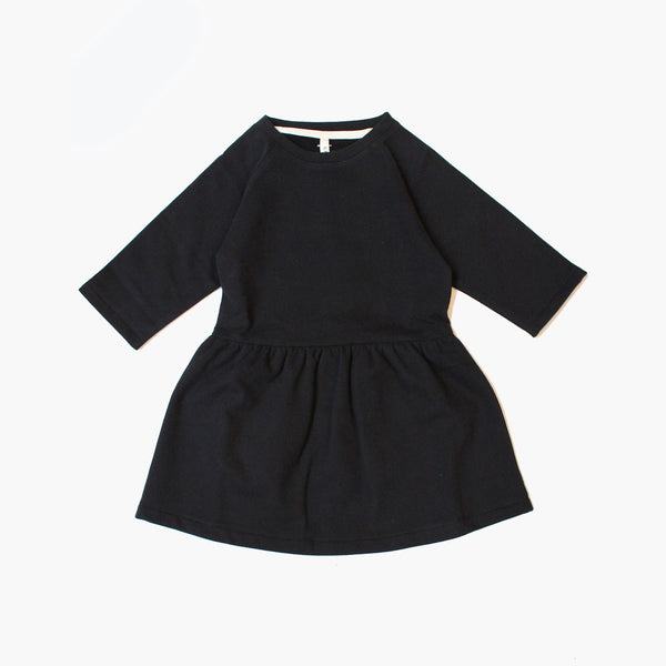 Organic Dress - Nearly Black - 12m - 6y
