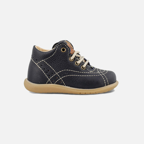 Eco Leather Toddler Shoes - Navy - 22 (UK5)-26 (UK8.5)