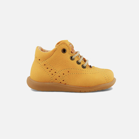 Eco Leather Toddler Shoes - Yellow - 22 (UK5)-26 (UK8.5)