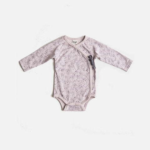 Organic Cotton Elna Wrap Body - Plum Print - 0-6m