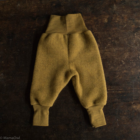 Organic Merino Wool Supersoft Fleece Pants - Saffron Melange