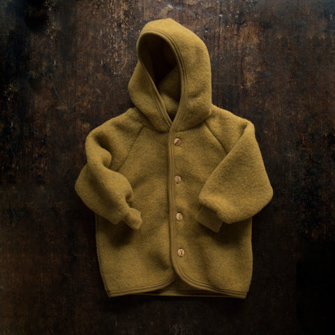 Organic Merino Wool Supersoft Fleece Jacket - Saffron Melange