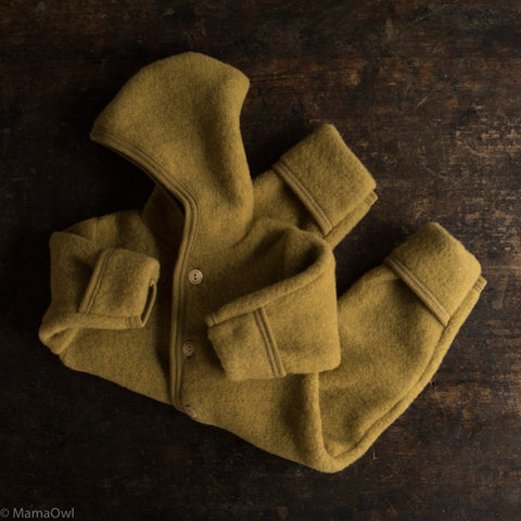 100% Organic Merino Wool Supersoft Fleece Suit - Saffron Melange