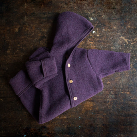 100% Organic Merino Wool Supersoft Fleece Suit - Lilac Melange