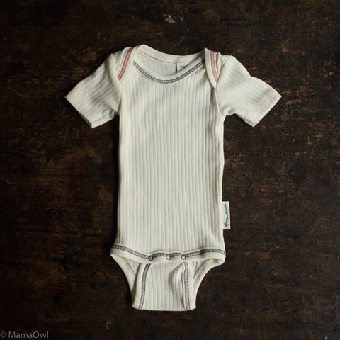 Organic Cotton Short Sleeve Body - Natural