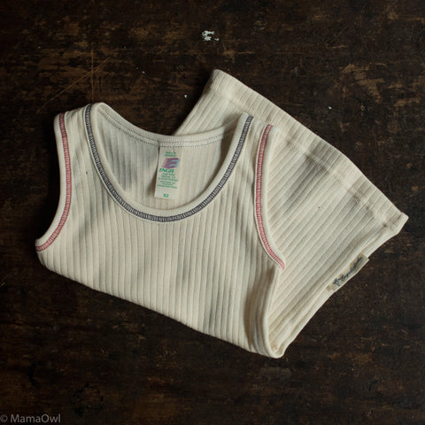Organic Cotton Underwear Sleeveless Vest - Natural
