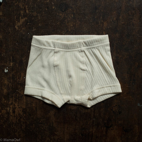 Organic Cotton Underwear - Boys Pants - Natural