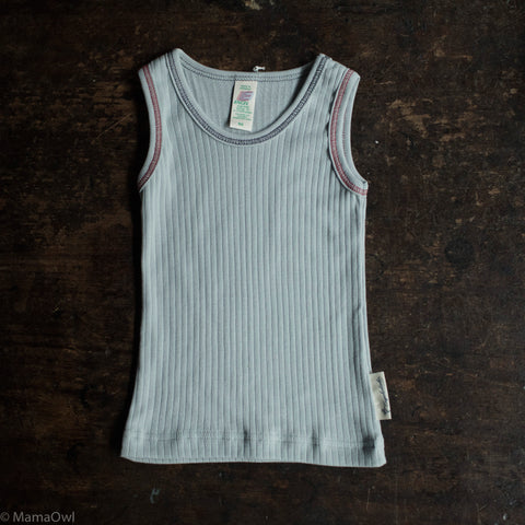 Organic Cotton Underwear Sleeveless Vest - Silver