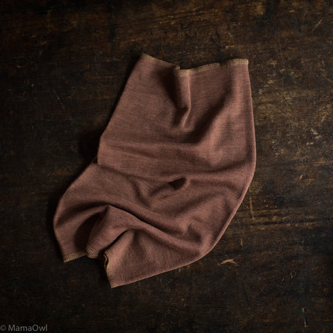 Exclusive Kids Organic Silk & Merino Snood - Hazelnut