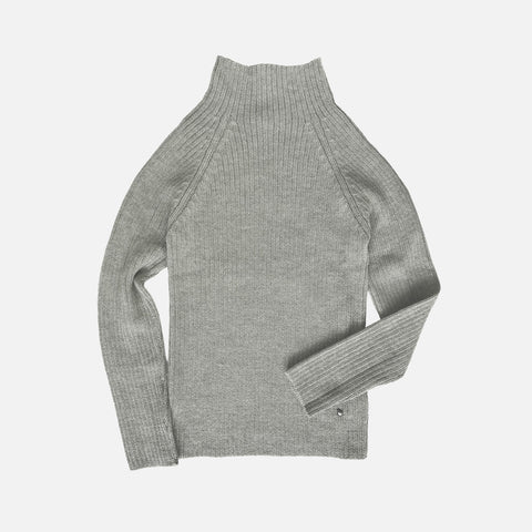 Women's Alpaca Erica Rib Sweater - Dove