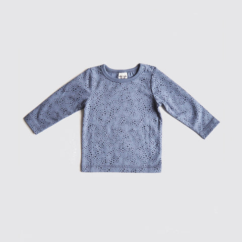 Organic Cotton Eskil Top - Blue Print - 6m-4y