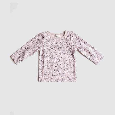 Organic Cotton Eskil Top - Plum Print - 6m-4y