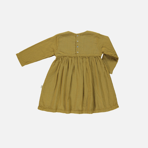 Organic Cotton LS Dress - Cassonade - 6y