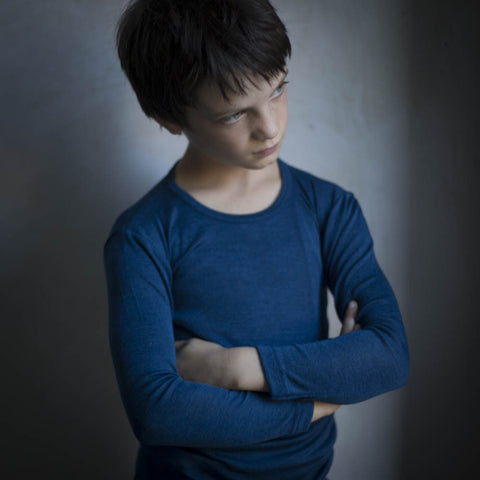 Organic Silk & Merino Wool Thermal Top - Red or Blue - 1-14y