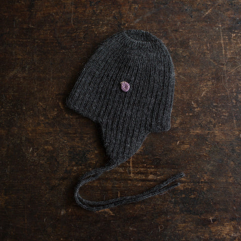 Alpaca String Hat - Charcoal - 6m-8y
