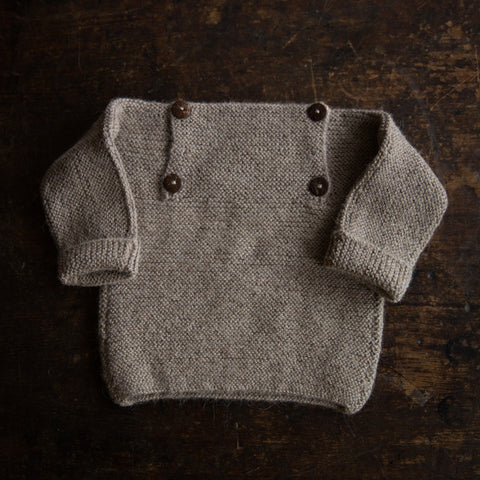 Exclusive Hand Knitted Alpaca Sweater - Oatmeal