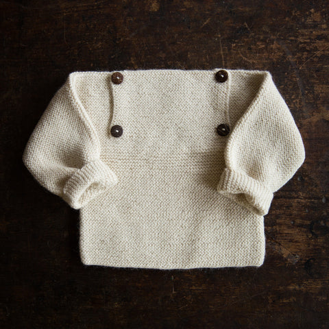 Exclusive Hand Knitted Alpaca Sweater - Natural