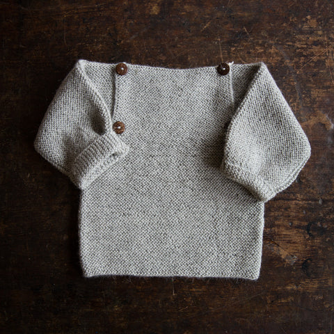 Exclusive Hand Knitted Alpaca Sweater - Light Grey