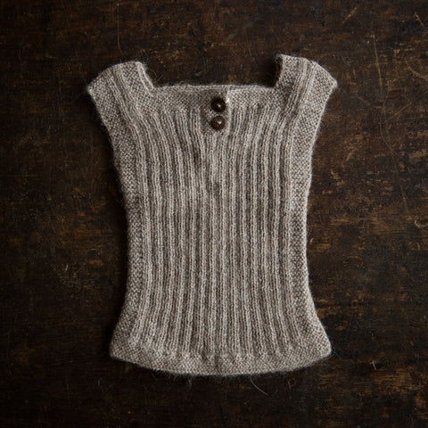 Beautiful Alpaca Rib vest / Body Warmer - Oatmeal