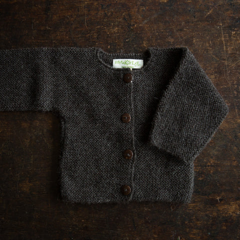 Beautiful Alpaca Cardigan - Charcoal