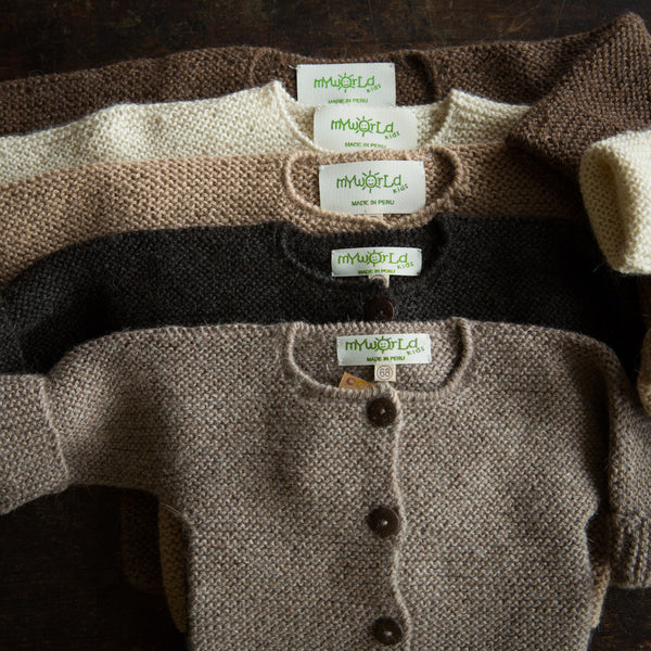 Beautiful Alpaca Cardigan - Brown