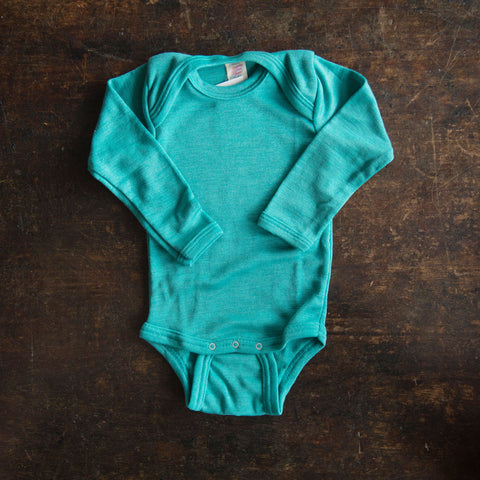 Organic Silk & Merino Wool Body - Kingfisher - 3m-2y