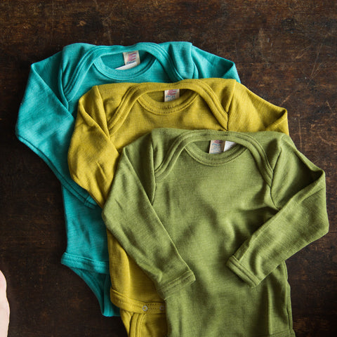 Organic Silk & Merino Wool Body - Kingfisher - 0m-4y