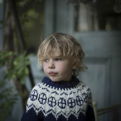 Palle wool/alpaca sweater Blue 1-10y