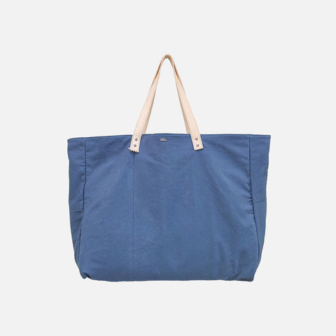 Cabas Organic Cotton and Leather Tote - Denim - XL