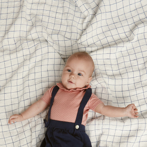 Organic Cotton Baby Pointelle Romper - Blush - 0-2y