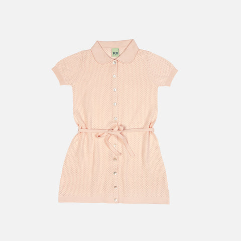 Organic Cotton Pointelle Dress - Blush - 2-8y