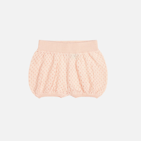 Organic Cotton Baby Bubble Bloomers - Blush - 3m-2y