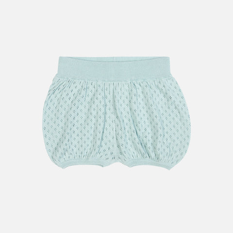 Organic Cotton Baby Bubble Shorts - Ocean - 3m-3y