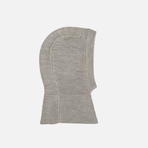 Merino Baby Balaclava - Light Grey - 3-18m