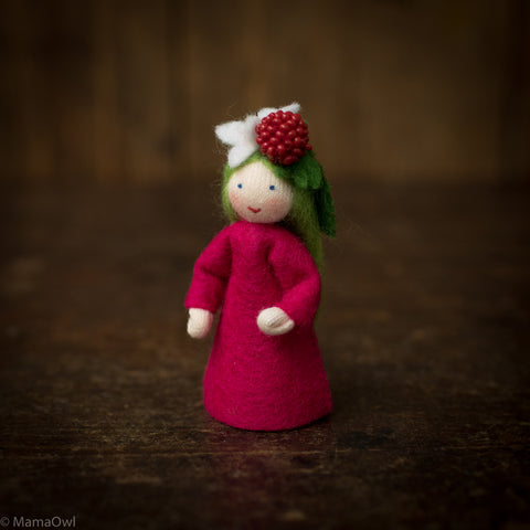Handmade Wool Fairy - Raspberry