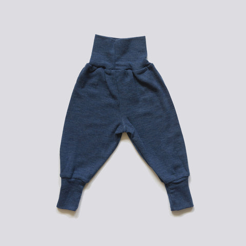 Organic Merino Wool Baggy Pants Yellow or Blue 0m-2y