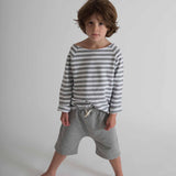 Organic Cotton Shorts - Grey Melange - 12m-8y