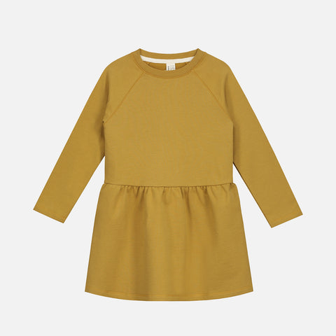 Organic Cotton Dress - Mustard