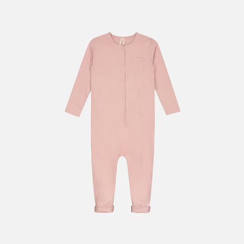 Organic Cotton Playsuit - Vintage Pink - 1-8y