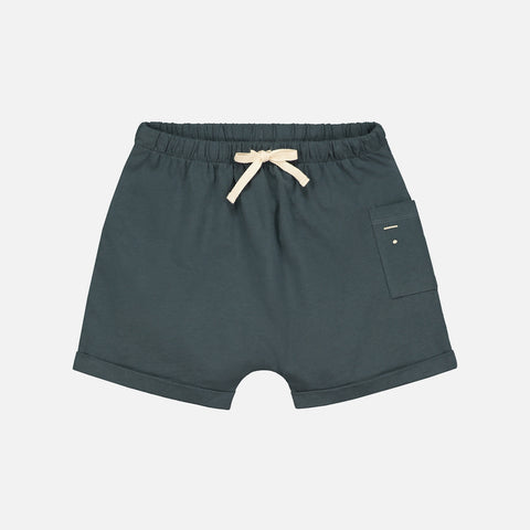 Organic Cotton Pocket Shorts - Blue Grey - 12m - 10y