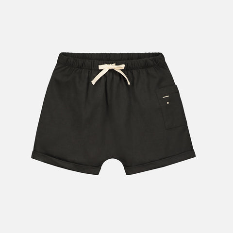 Organic Cotton Pocket Shorts - Nearly Black - 2-4 & 10y