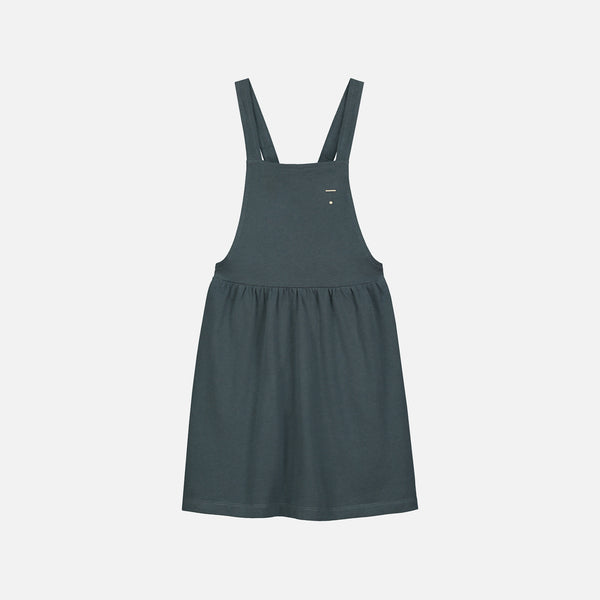 Organic Cotton Pinafore Dress - Blue Grey - 1-8y
