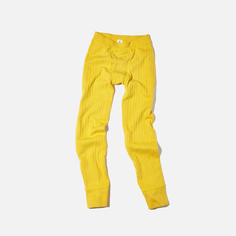 Organic Boy's Drop Needle Pant - Mustard - 2-8y